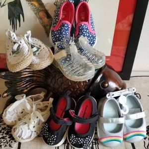 Bundle: 6 prs Girls Size 3-6 mos Shoes New & EUC